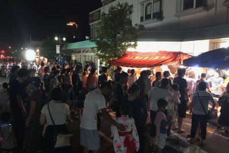 富田八幡神社の夏祭りでラボを開放中!